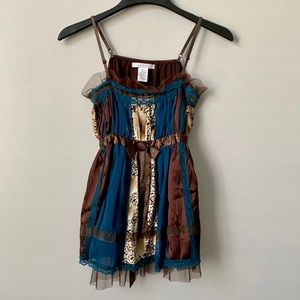 Charlotte Russe Mixed Media Tank Top